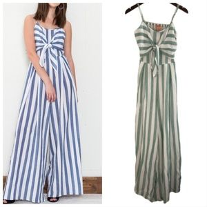 NWT Flying Tomato Striped Jumpsuit in Green
